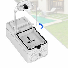 P56 waterproof socket weatherproof switch light Outdoor Wall Power Socket Standard Electrical Outlet Grounded