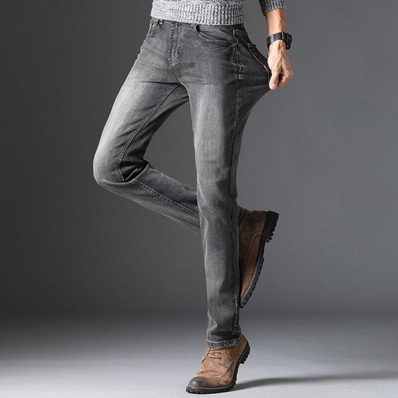 2020 Spring Autumn New Men'S Wear Grey Jeans Strench Korean Tight Skinny Pencil Jean
