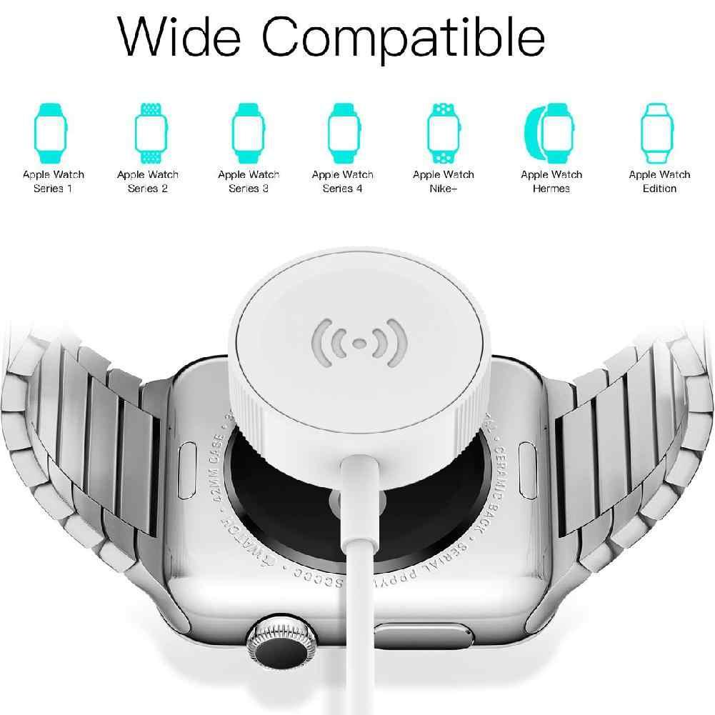 Chargeur rapide pour Apple Watch universel pour iWatch 1 2 3 4 conception magnétique sans fil Interface USB alimentation Portable