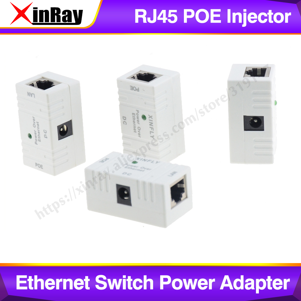 XinRay RJ45 POE Injector Power Over Ethernet Switch Power Adapter POE001 For POE IP Camera.