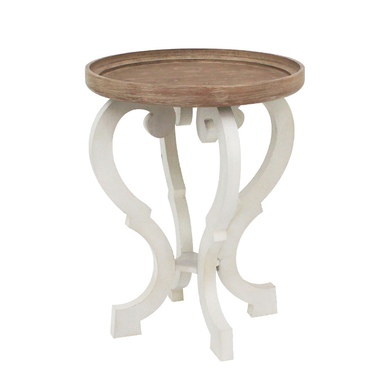 french country style old side table american retro wood color small coffee table side table
