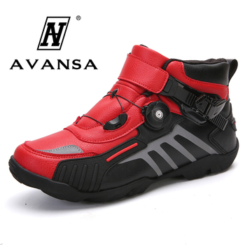 Na co dzień mężczyźni obuwie rowerowe profesjonalny rower górski rower samoblokujący buty dla dorosłych wysokiej góry akcesoria do motoru buty sportowe tanie i dobre opinie avansa Sztuczna skóra Przypadkowi buty Gumowe Hook loop Pasuje prawda na wymiar weź swój normalny rozmiar Podstawowe