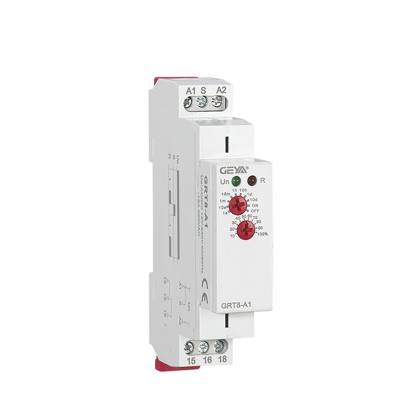 DIN Rail Mount GEYA GRT8-A 12V <font><b>24V</b></font> 220V 16A SPDT On Delay Timer <font><b>Relay</b></font> Switch Adjustable Time <font><b>Relay</b></font> image