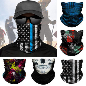 Seamless scarf Bandanas Multi-functional Cover For Outdoors Festivals Halloween Sports Fishing Cycling Scarf Neck Gaiter Scarves