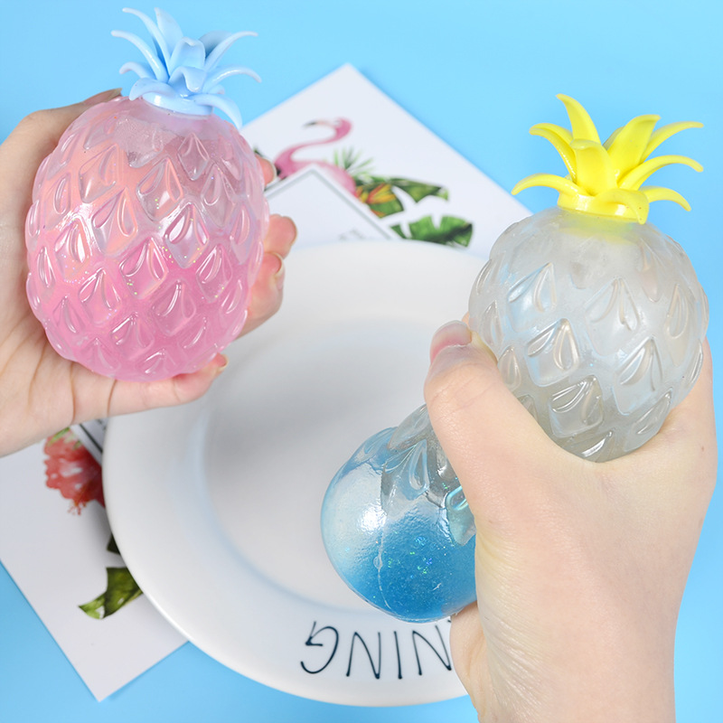 Hot Sale Children's Toy Rubber Hand Pinch Pineapple Ball Student Vent Funny Stress Reliever Toy Holiday Gifts for Boys and Girls enlarge