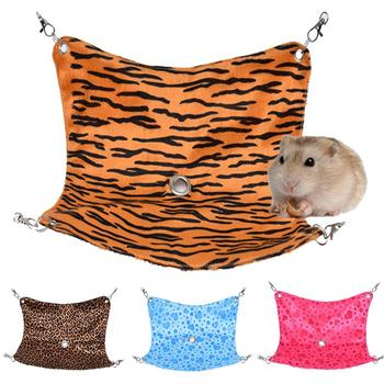 Pets Hamster Rabbit Heart Print Sleeping Hammock Cage Cotton Mouse Ferrets Guinea Pig Hanging Cat Bed Soft Warm Hanging Bed image