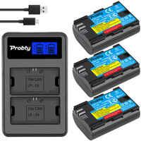 Probty LP-E6 LPE6 LP E6 batería + LCD cargador para Canon EOS 5D 5D2 5DS R Mark II 2 III 3 6D 60D 60Da 7D 7D2 7DII 70D 80D