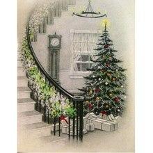 Free Shipping Santas Christmas Tree Diamond Embroidery DIY 5d Square Needlework Painting Cross Stitch Rhinestones Mosaic