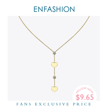 Enfashion Heart Crystal Choker Necklace For Women Gold Color Boho Chain Necklaces Stainless Steel Holiday Jewelry Collares P3001