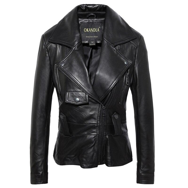 Free Shipping,Brand Sweet Style Genuine Leather Casual Jackets.plus Size Soft Sheepskin Jacket,sales.lady Gift,fashion Coat