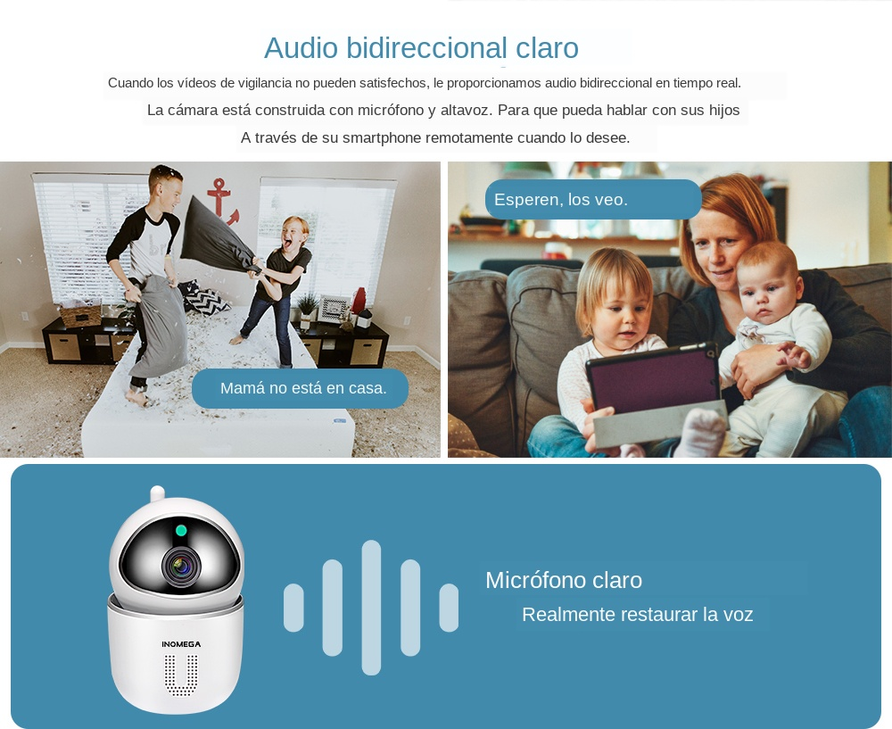 High Resolution Baby Monitor With Auto Tracking Mini Camera For Your Child Safety 10