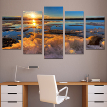 5 Planes Sunrise Room Decor Canvas Art Painting Picture Photo Living Office for Women and Men