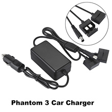 Car Charger Flight Battery Remote Controller Smart Charging for Phantom 3 Drone Outdoor Vehicle Travel Drone Charger Accessories