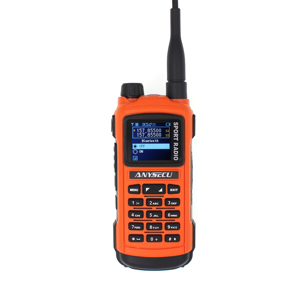 ANYSECU AC-580 Professional Sports Radio Dual Band Dual PTT 5W 128CH Bluetooth Function Two Way Radio Walkie Talkie