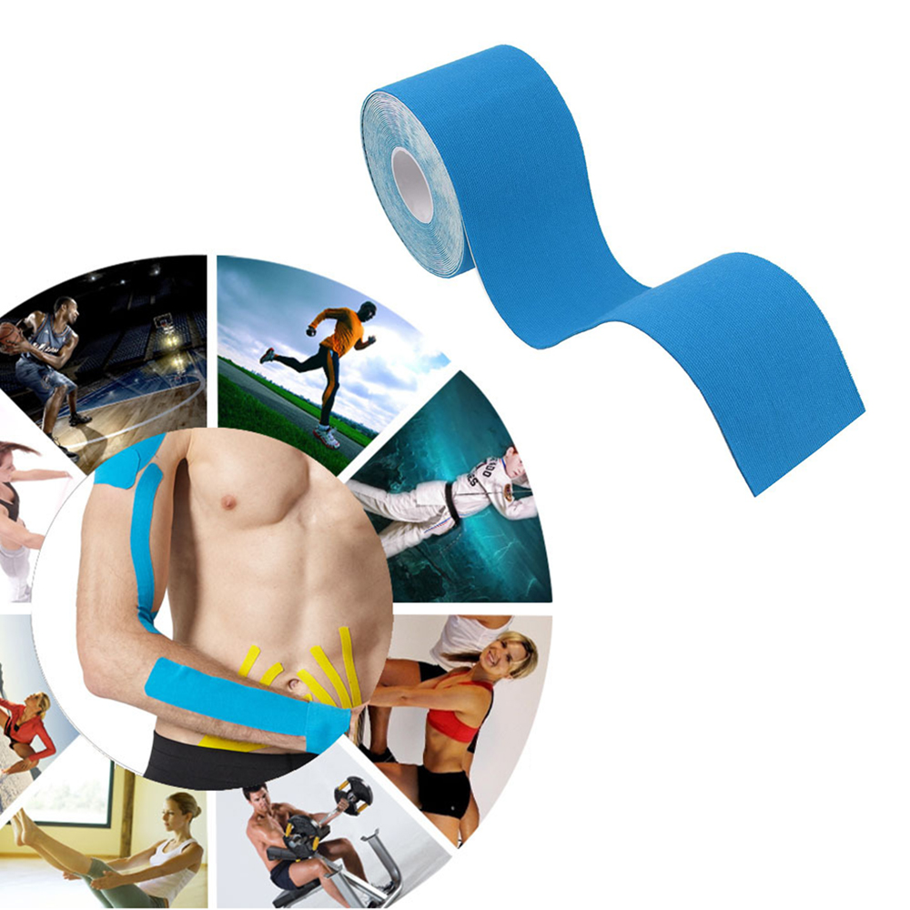 Kinesiology Tape Athletic Recovery Elastic Tape Muscle Pain Relief Knee Pads Support For Gym Fitness Bandage