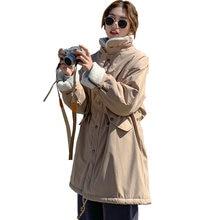 Женская зимняя куртка на хлопковом наполнителе с воротником