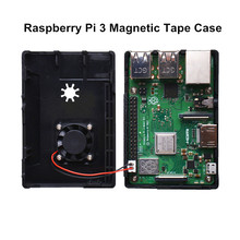 Magnetic Tape Case for Raspberry Pi Case ABS Tape Enclosure Shell Box Case Design for Raspberry Pi 3 B+ /3 B / 2 B / B Plus стоимость