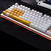 Желтая клавиатура с подсветкой ключ Кепка 15 ключ игра Teclado ключ крышка с подсветкой для большинства 104-ключ поперечного типа шпинделя