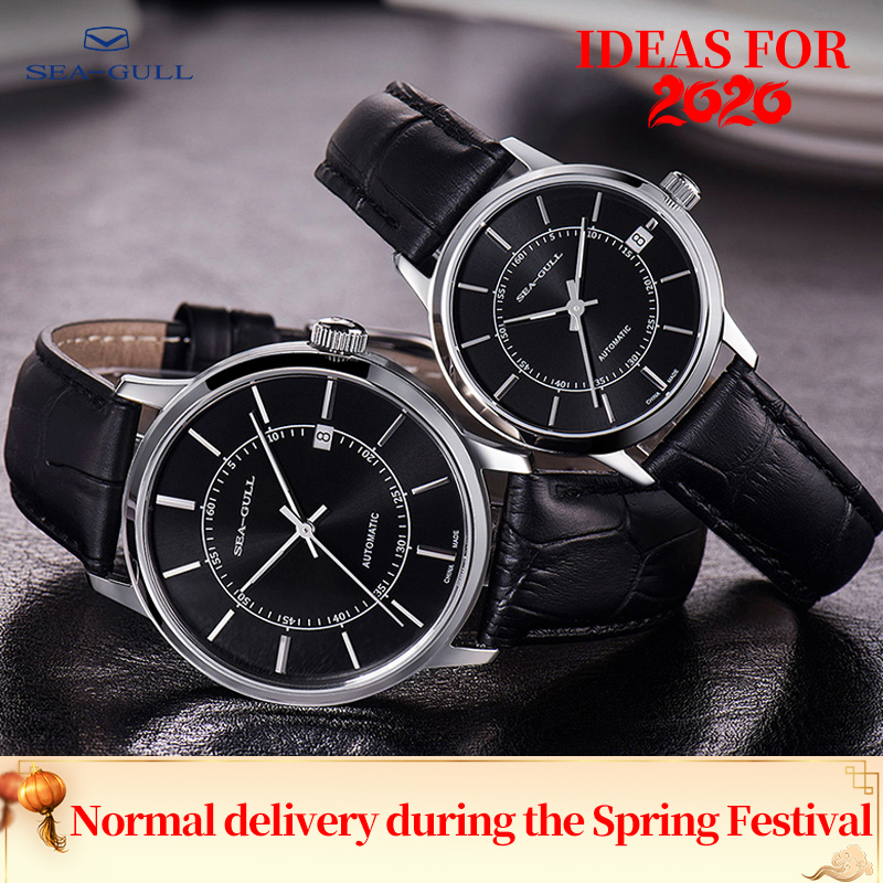 Seagull Men's Watch Belt Automatic Machinery Fashion Romantic Couple Table D819.641