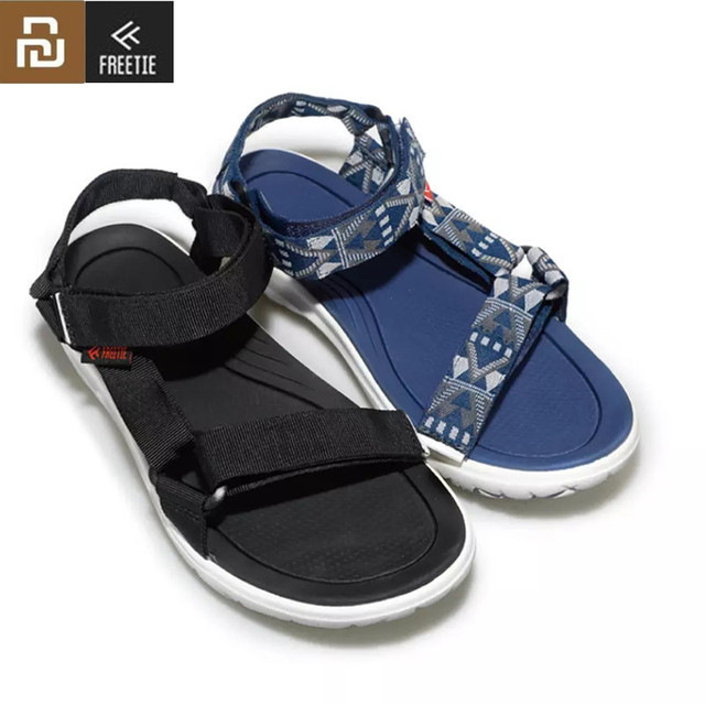 Hot Youpin FREETIE Curved Magic Belt Sandals Non slip shoes Wear resistant Free Buckle Sandals Suitable For Spring and Summer