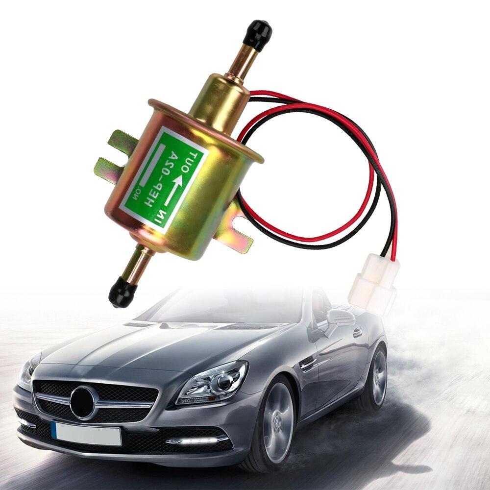 LEEPEE yakıt pompası 12V elektrikli benzin pompası cıvata sabitleme tel dizel HEP-02A araba için karbüratör motosiklet ATV düşük basınçlı