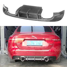 цены Car Styling Carbon Fiber Racing Rear Bumper Lip Diffuser For Jaguar XE Sedan 4-Door 2015 2016 2017 Car Bumper Apron Guard Plate