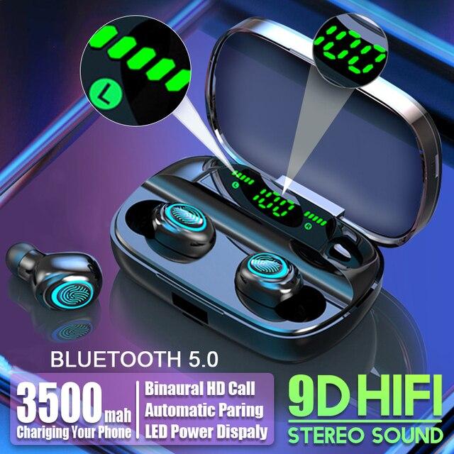Tws 무선 블루투스 이어폰 헤드폰 방수 스포츠 게임 헤드셋 아이폰을위한 마이크와 소음 이어폰 샤오미 + 충전 박스