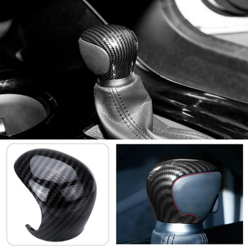 for Toyota CHR C-HR 16-19 Carbon Fiber Shift Knobs Shift Lever Gear Shift Decorate Cover Trim