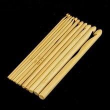 Бытовые круглые крючки для вязания крючком бамбуковый вязальный крючок портативный инструмент для вязания свитера 12 шт
