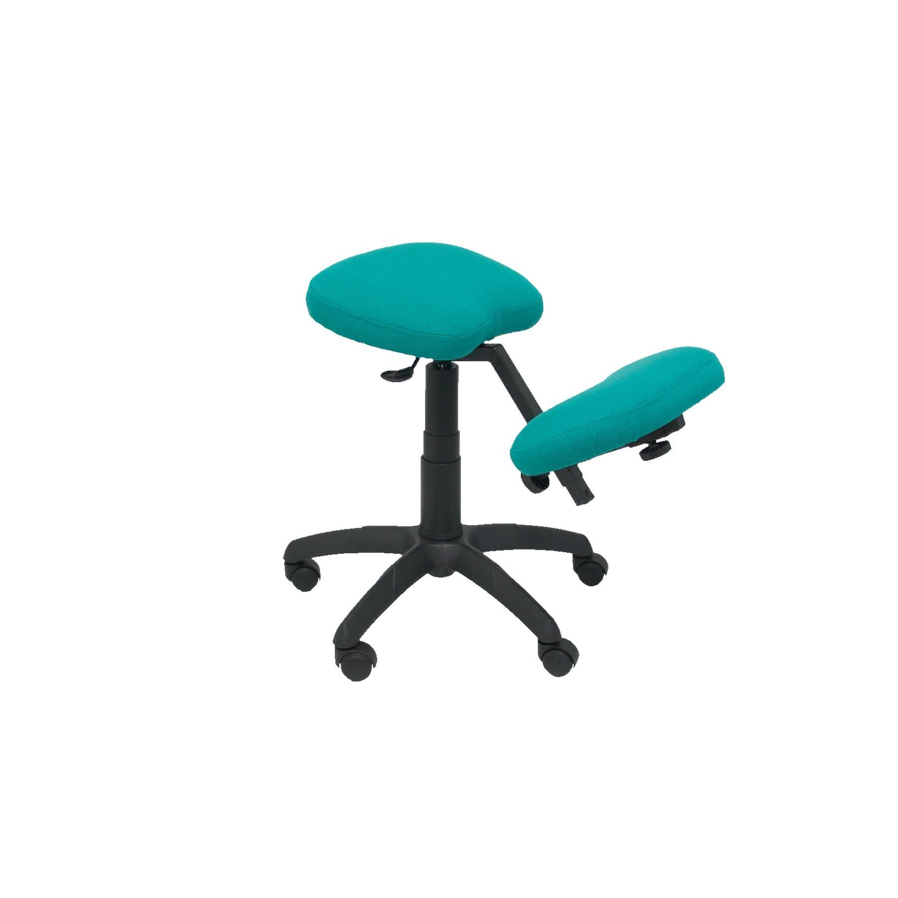 Office's Stool Ergonomic Swivel And Dimmable In High Altitude Up Seat Upholstered In BALI Tissue Green Color Clear (RODI