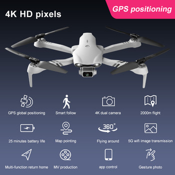 2021 New Drone 4K 1080P HD Camera with GPS 5G WIFI FPV Drone Dual Camera Height Keep Foldable Quadcopter RC Dron Toy 6