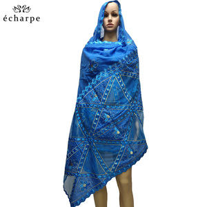 Image 5 - New fashion design Muslim headscarves and long scarf type geometrical design scarf made of pure cotton and comfortable EC108