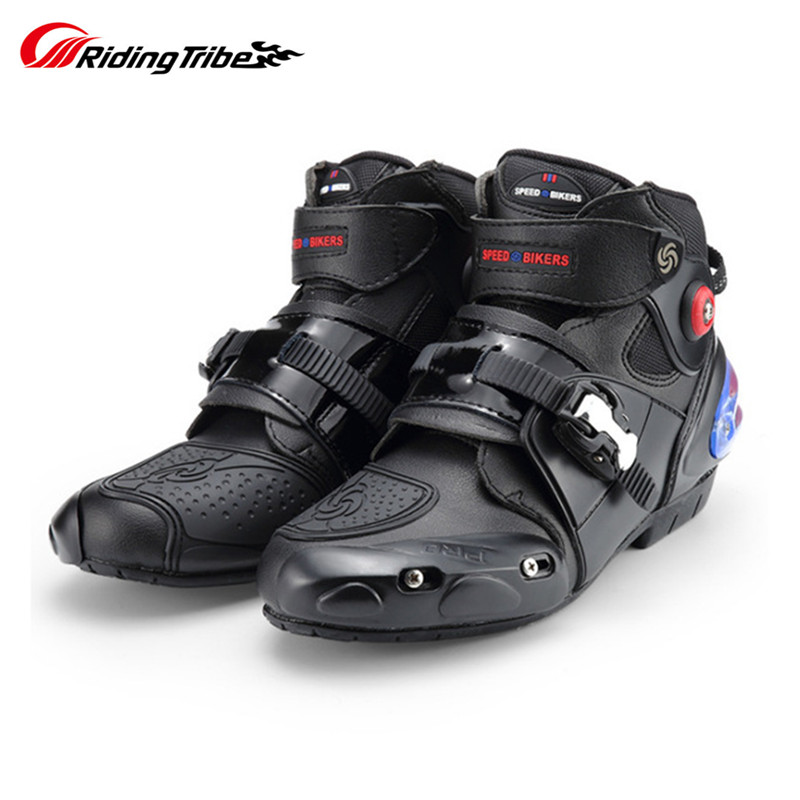 NEUE Motorrad Kurze boot Mikrofaser Leder Racing Ankle Reiten schuhe Motocross Boote Nicht-Slip Schuhe motorrad Stiefel