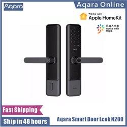 Aqara N200 Smart Door Lock Fingerprint Password  Bluetooth NFC Unlock Smart Linkage With Doorbell Works With Mijia Apple HomeKit