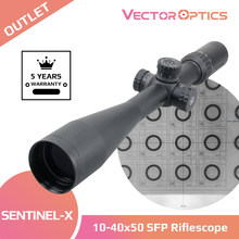 Vector Optics Sentinel X 10-40x50 Air Rifle Riflescope Hunting Tactical Shooting Scope Fit Airgun .177 .22 .25 Also .223 .308win