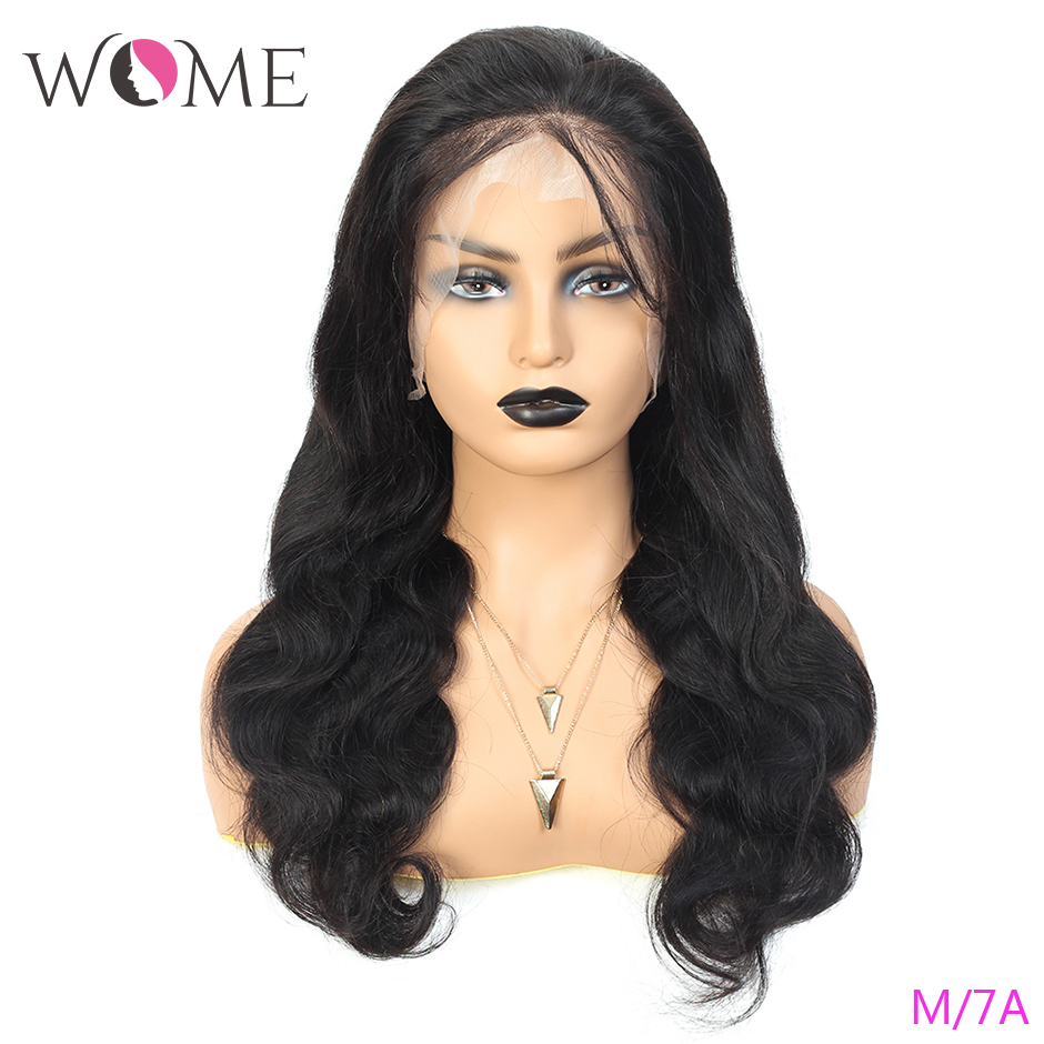 Full Lace Human Hair Wigs For Black Women Body Wave Brazilian Wigs Remy Hair Middle Ratio 150% Density Full Lace Wigs For Women