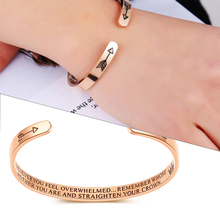 Custom Inspirational Letter Bracelet For Women Best Friends 3Color Stainless Steel Engrave Bangle Double Arrow Jewelry SKQIR