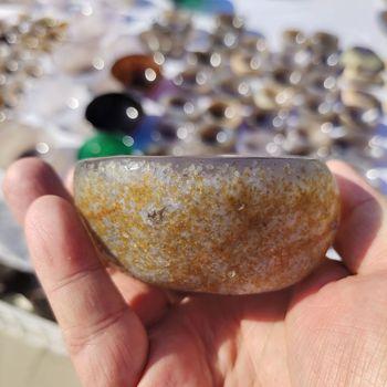 1 sztuk naturalny kryształ agat miska agat popielniczka popielniczka kryształowa dekoracja domu kamienie i uzdrawiające minerały kryształy tanie i dobre opinie crystal wand CN (pochodzenie) Maskotka FENG SHUI CHINA