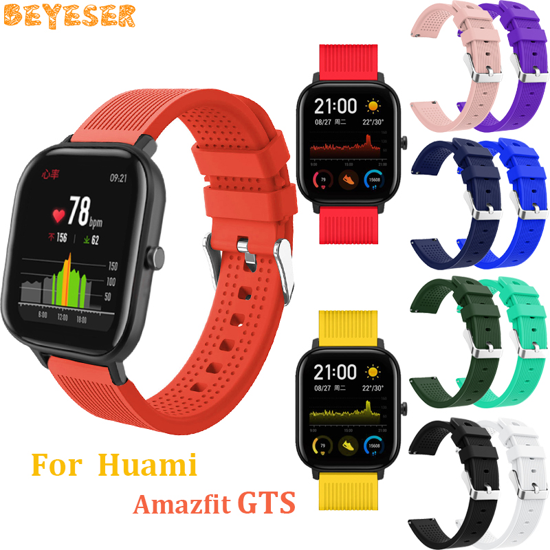 For Huami Amazfit GTS GTR 42mm silicone watchband replacement smart watch 20mm For Garmin vivoactive 3 wrist strap dropshipping