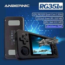 Anbernic rg351m nova versão wifi ps1 retro jogo 2400 jogos 64g rg351p-versão de atualização rk3326 n64 jogador de jogo de bolso rg351
