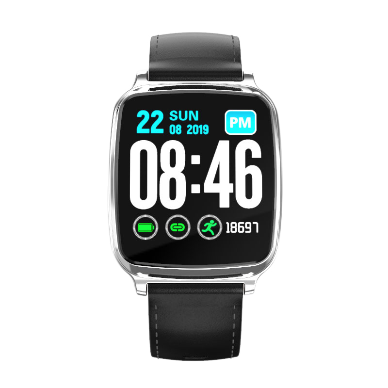 <font><b>M8</b></font> <font><b>Smart</b></font> <font><b>Watch</b></font> 1.3 inch Full Screen Press Men Waterproof Multi-Sports Modes Blood Pressure Monitor Fitness Tracker Black image