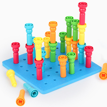 Buliding Kids Montessori Educational Toys Color Shape Stacking Games Creative Diy Children 2 To 4 Years Old Boy Girl Gift