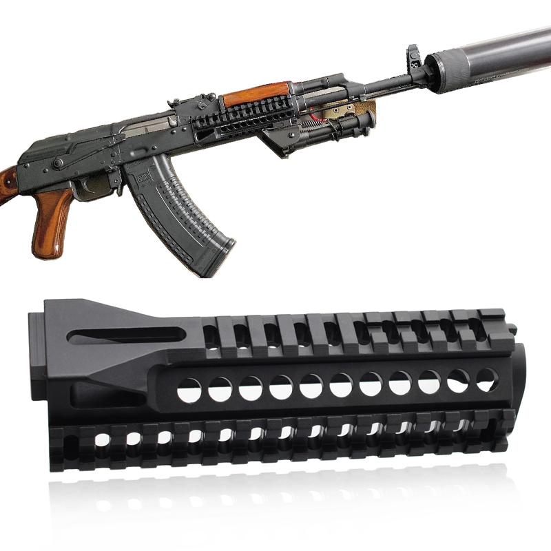 Magorui Tactical Ak47 Aluminum Multi-function B10 Picatinny 20mm Rail Handguard Hunting Airsoft Army Accessories