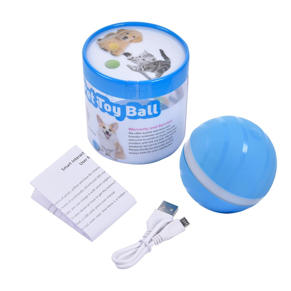 Image 5 - Safety Waterproof Pet Jumping Ball USB Electric Pet LED Rolling Flash Ball Funny Toy Home Pet Dog Cat Toys-in Toy Balls from Toys & Hobbies