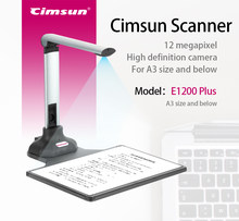 12 Megapixel HD Document Camera Scanner E1200 Plus with Fill-in LED Light Auto Focus A3, A4, A5 Size