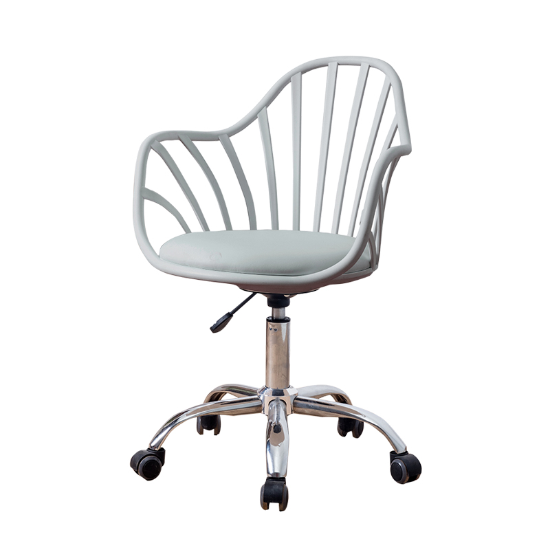 Nordic Simple And Comfortable Staff Dormitory Seat Lift Office Chair White Work Study  Student Swivel