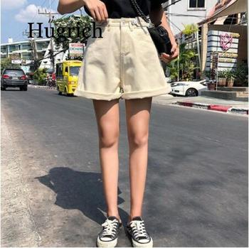 Beach Style womens shorts denim high waist sexy short harajuku wide legs street black blue 2020 summer new