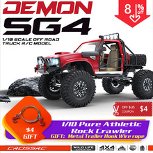 CROCE RC 1/10 kit SG4 4X4 4WD DEMONE Rock Bilancia Crawler ABS Corpo Duro con Metallo Assi sport crawler