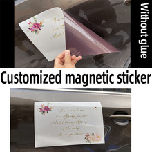 Customized magnetic stickers, adhesive car stickers, printed advertising text logo, Soft magneticmagnet magnet sticker