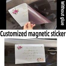 Etiquetas magnéticas personalizadas, etiquetas adesivas do carro, logotipo impresso do texto da propaganda, etiqueta macia do ímã do magneticmagnet